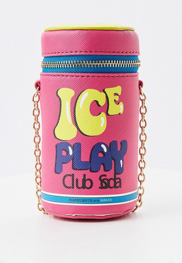 женская сумка ice play, розовая