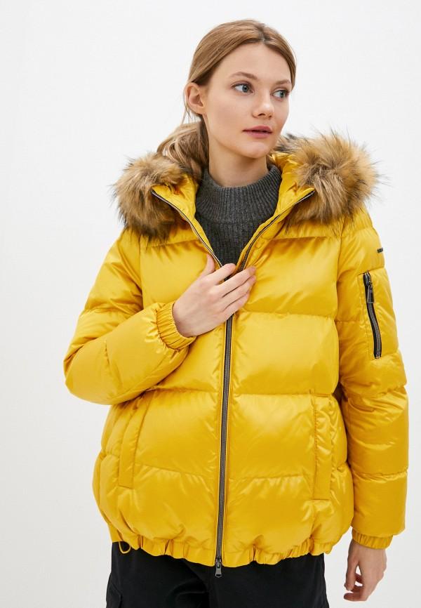женская куртка geox, желтая