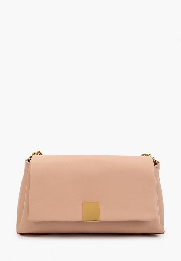 женская сумка через плечо mango, розовая