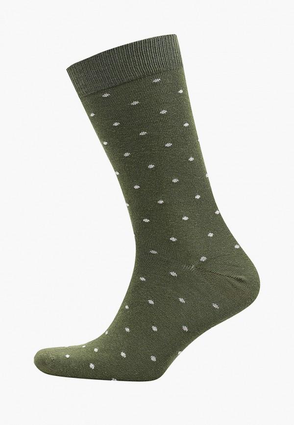мужские носки mango man, зеленые