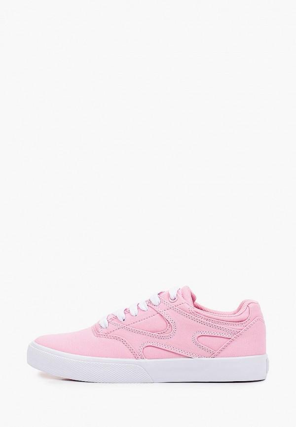 женские низкие кеды dc shoes, розовые