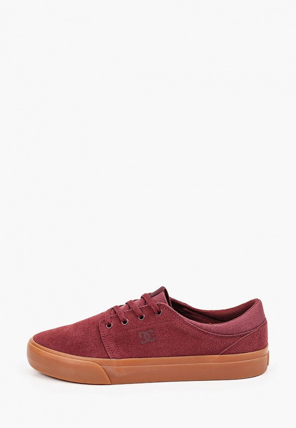 мужские кеды dc shoes, бордовые