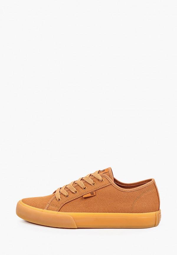 мужские кеды dc shoes, коричневые