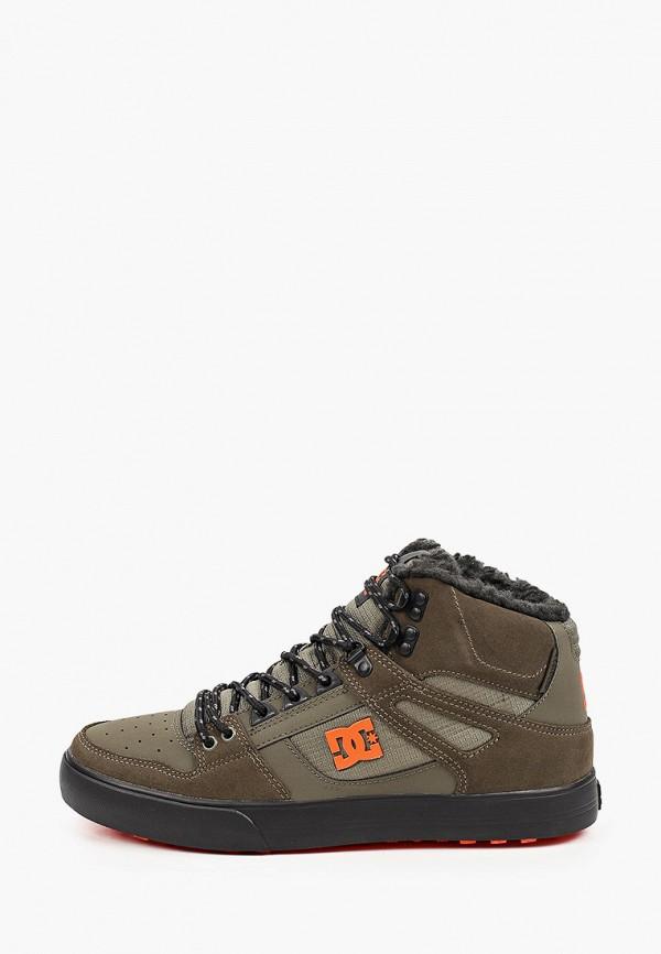 мужские кеды dc shoes, хаки