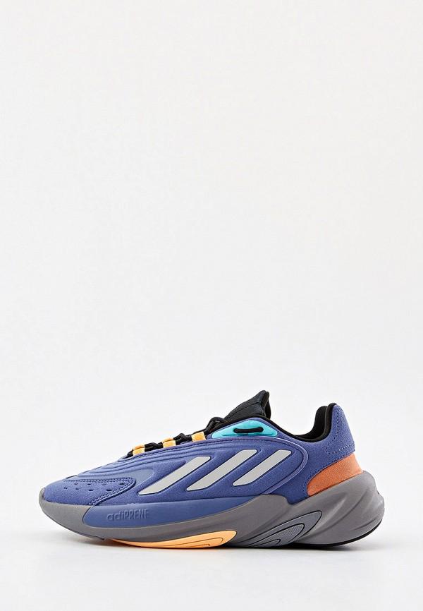 женские низкие кроссовки adidas, синие