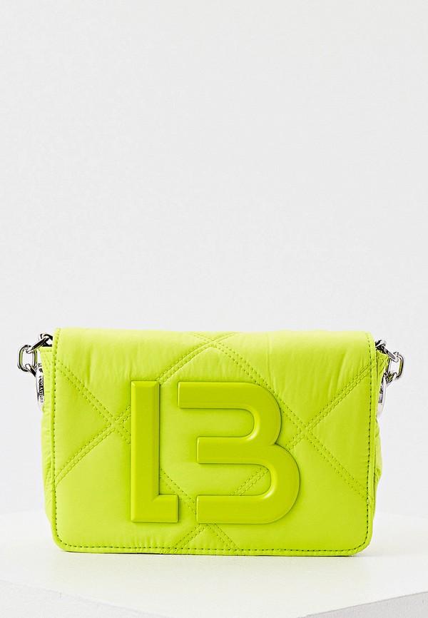 женская сумка через плечо bimba y lola, зеленая