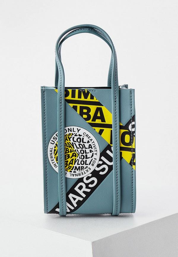 женская сумка с ручками bimba y lola, бирюзовая