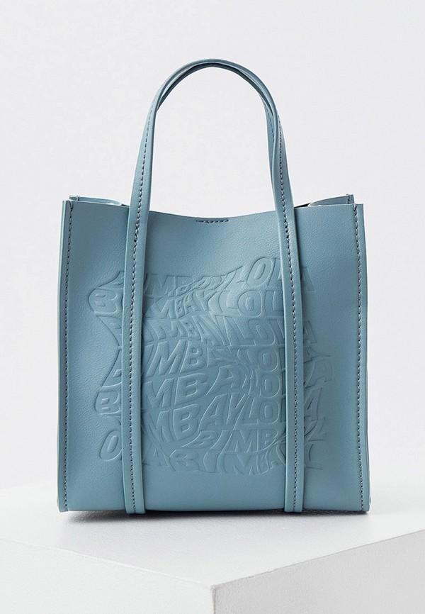 женская сумка с ручками bimba y lola, синяя