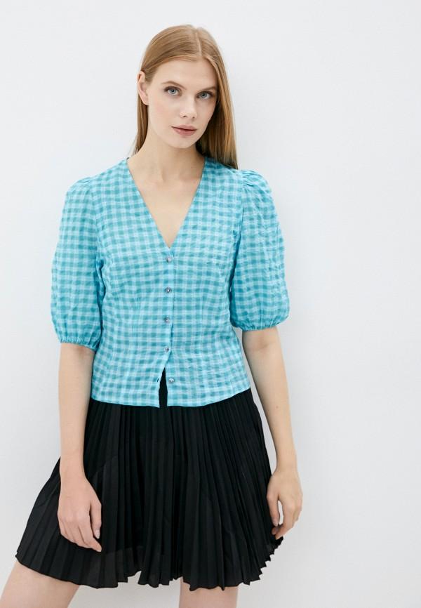женская блузка с коротким рукавом bimba y lola, голубая