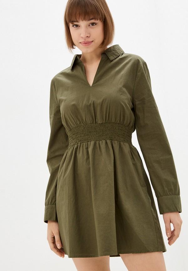 женское платье missguided, хаки