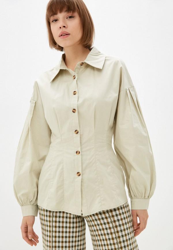 женская блузка missguided, зеленая