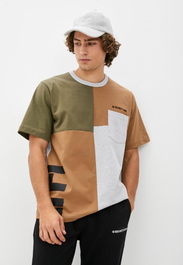 мужская футболка helmut lang, разноцветная