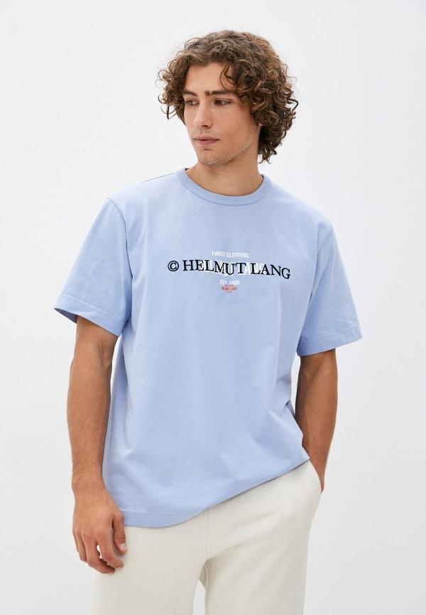 мужская футболка helmut lang, голубая
