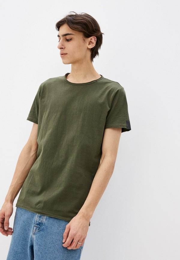 мужская футболка с коротким рукавом replay, хаки