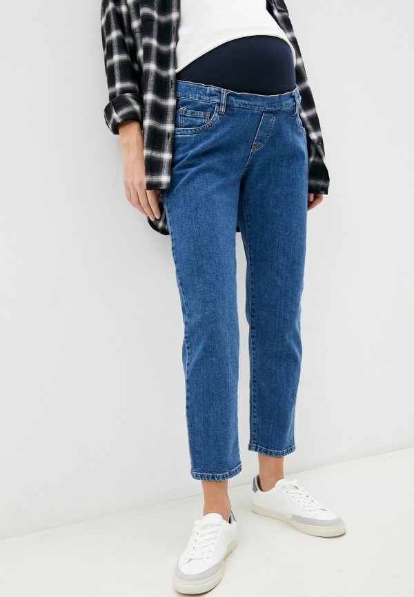 женские джинсы pietro brunelli maternity, синие