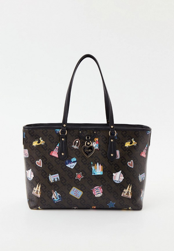 женская сумка-шоперы liu jo, хаки