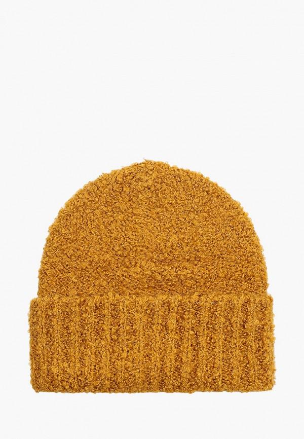женская шапка mango, коричневая