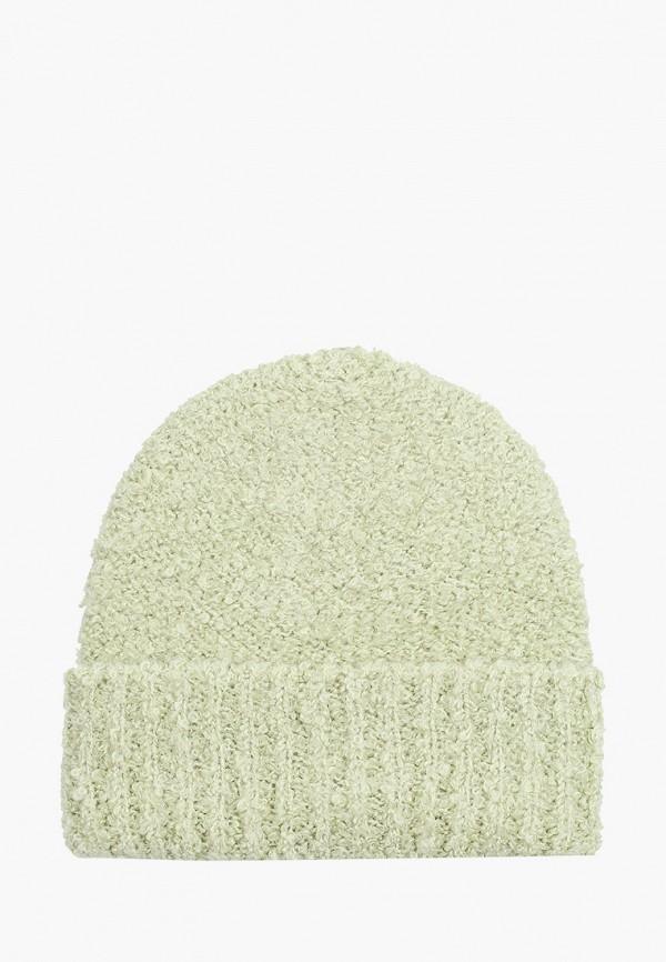 женская шапка mango, зеленая