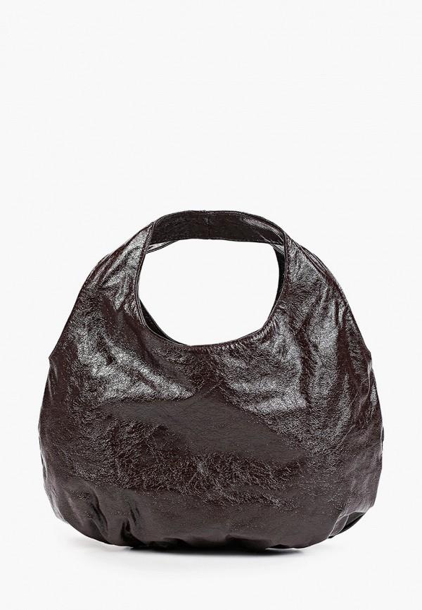 женская сумка с ручками mango, коричневая