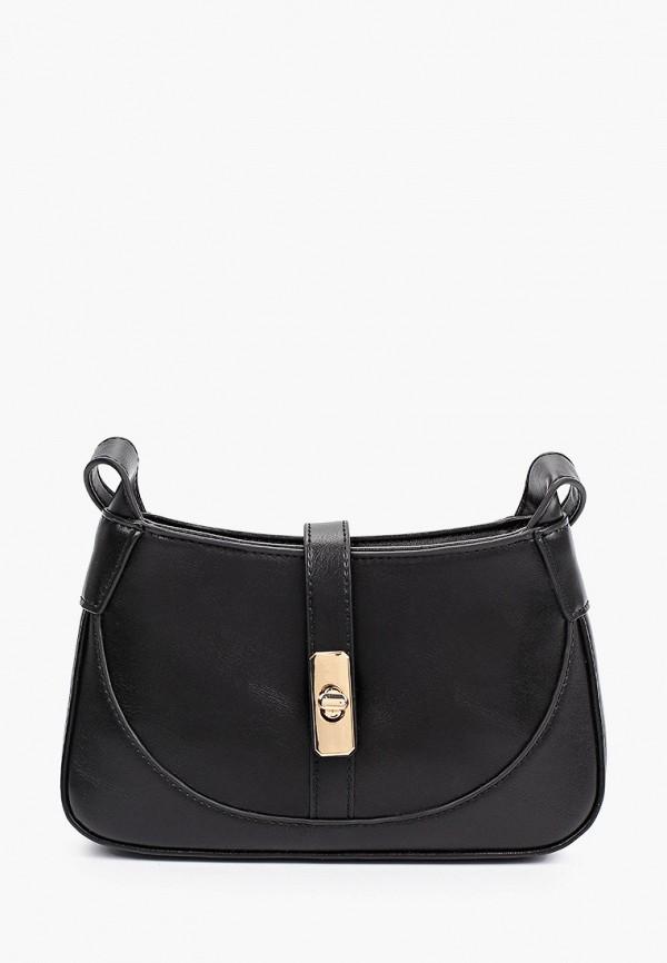 женская сумка через плечо mango, черная