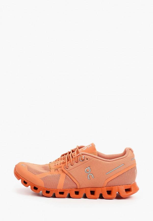 женские низкие кроссовки on, розовые