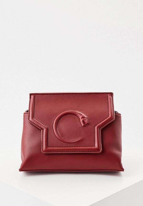 женская сумка cavalli class, красная