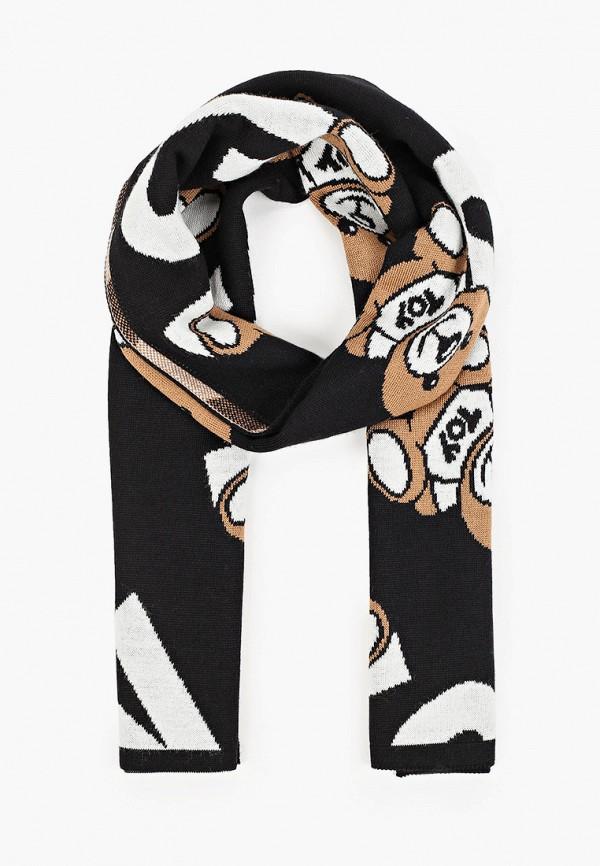 женский шарф moschino, черный