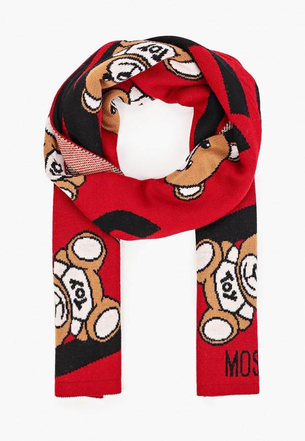 женский шарф moschino, красный