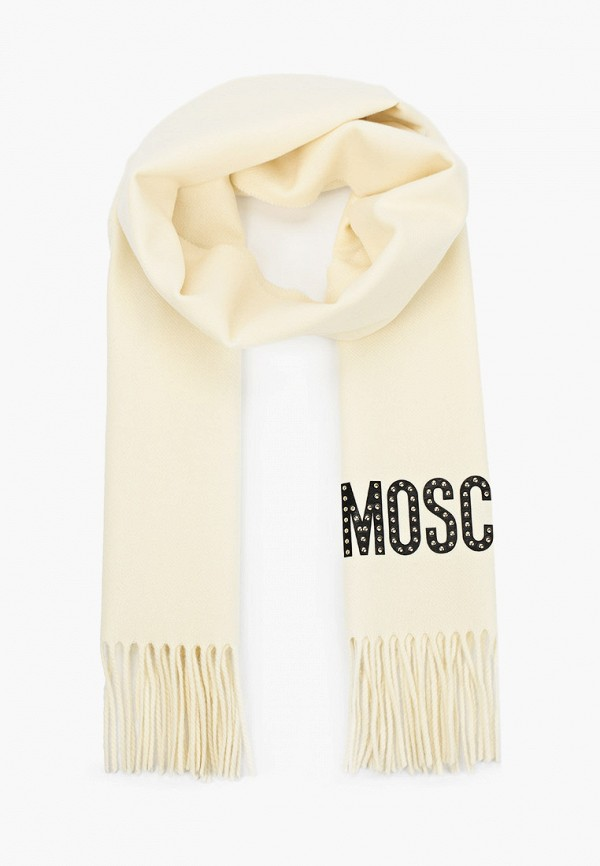 женский шарф moschino, бежевый
