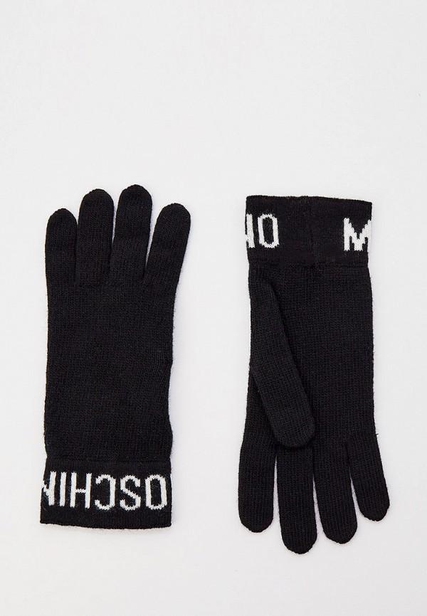 женские перчатки moschino, черные