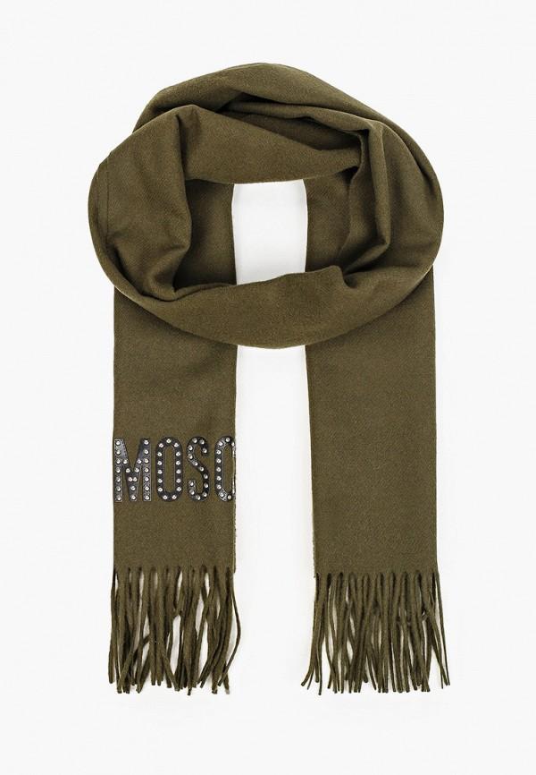 женский шарф moschino, зеленый