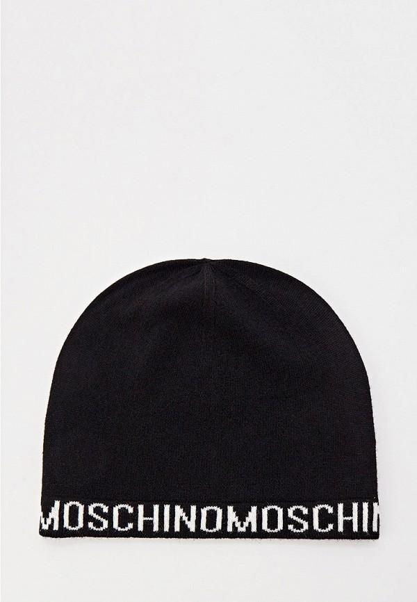 женская шапка moschino, черная