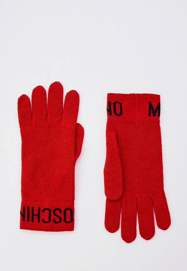 женские перчатки moschino, красные