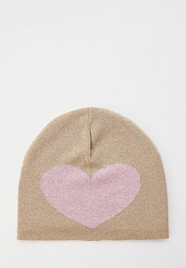 женская шапка moschino, бежевая