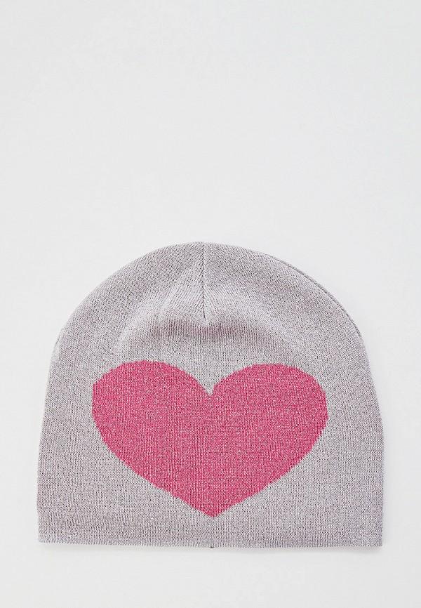 женская шапка moschino, серая