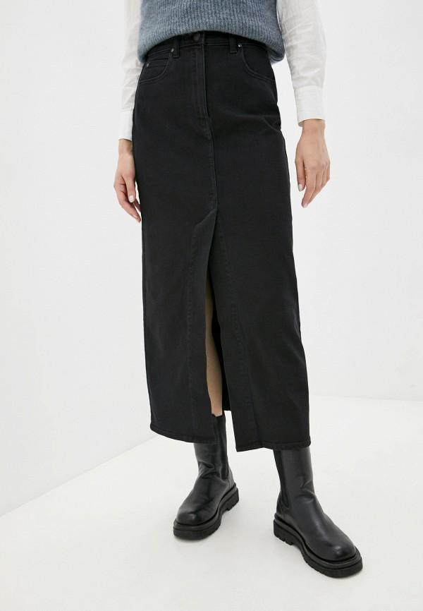 женская джинсовые юбка lee, черная