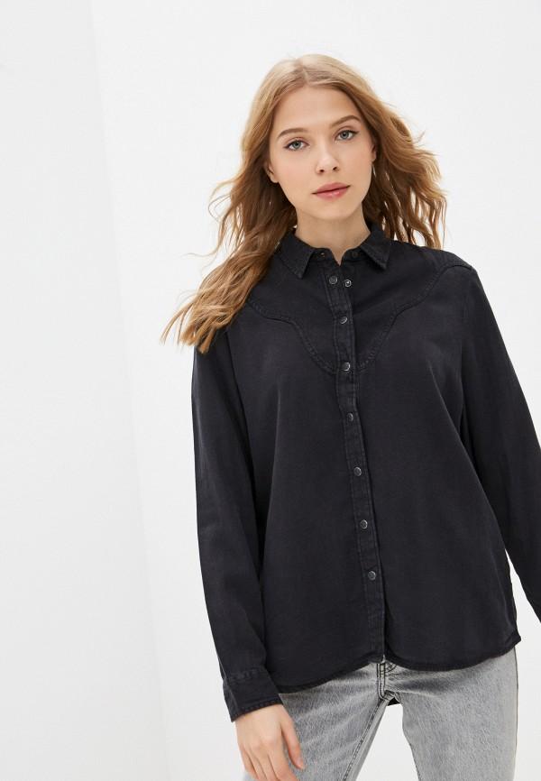 женская джинсовые рубашка lee, серая