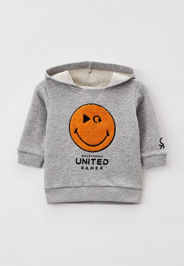 худи united colors of benetton для мальчика, серые