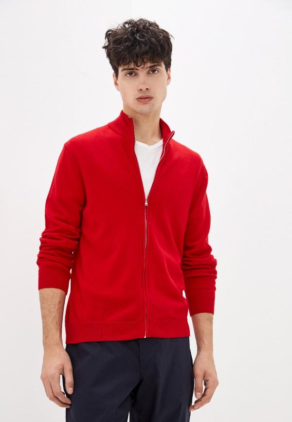 мужской кардиган united colors of benetton, красный