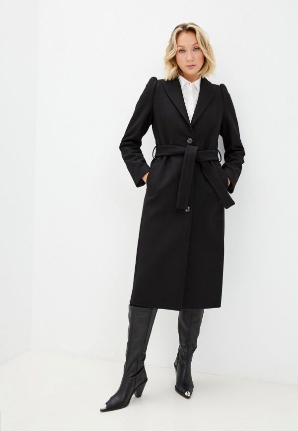 женское пальто united colors of benetton, черное