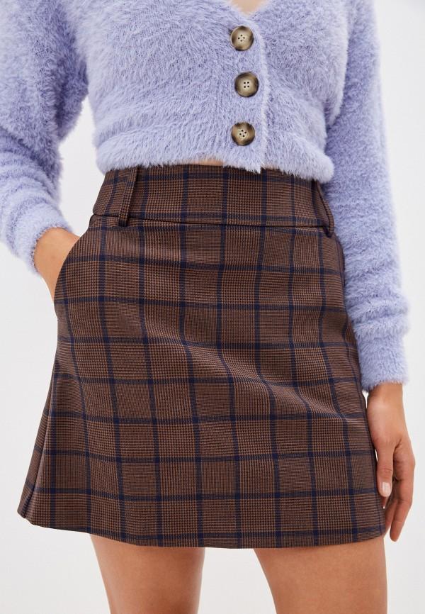женская юбка united colors of benetton, коричневая