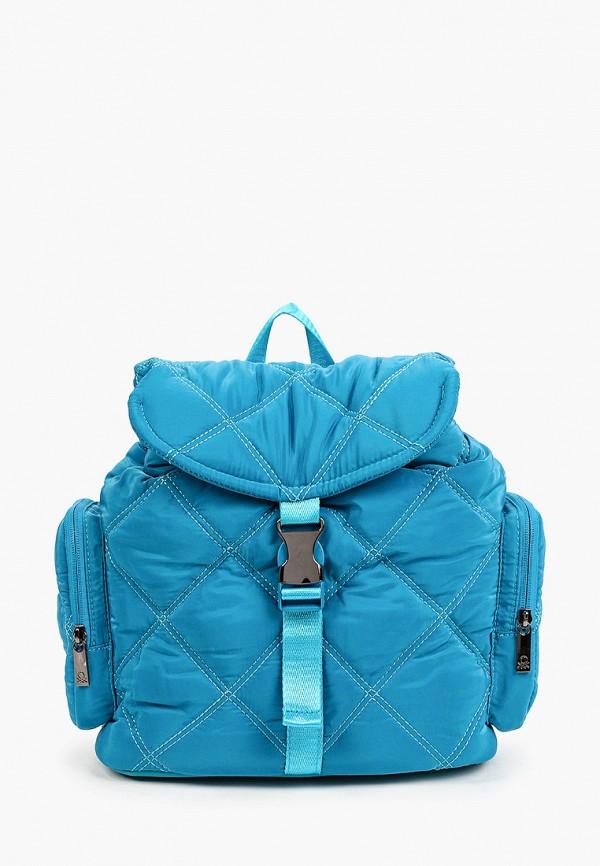 женский рюкзак united colors of benetton, голубой
