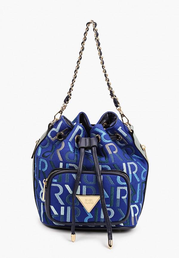 женская сумка river island, синяя