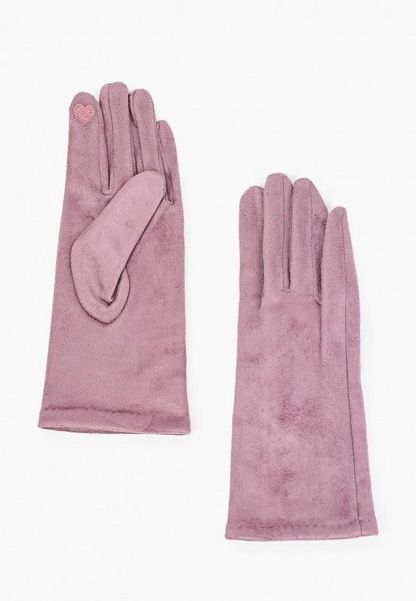 Перчатки Fabretti розового цвета