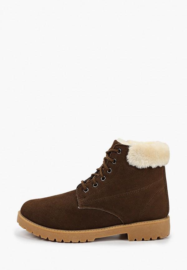 ботинки beppi для девочки, коричневые