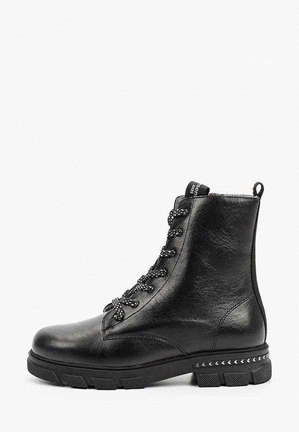 ботинки котофей для девочки, черные