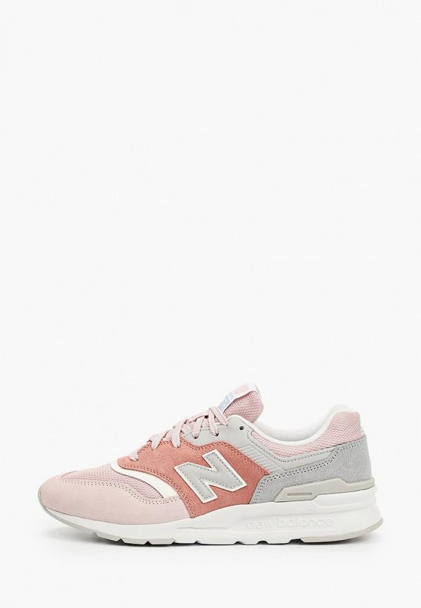 женские низкие кроссовки new balance, розовые