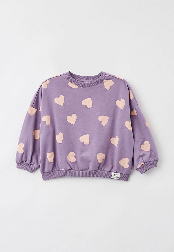 свитшот sela для девочки, фиолетовый