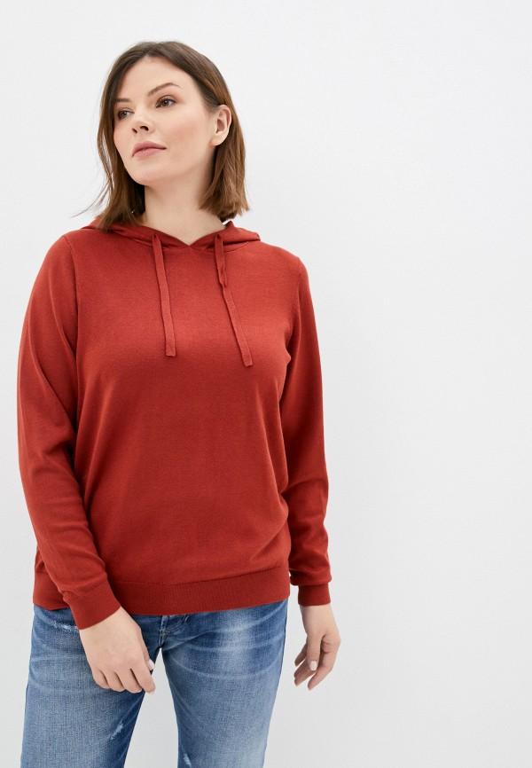 женский джемпер vero moda curve, коричневый