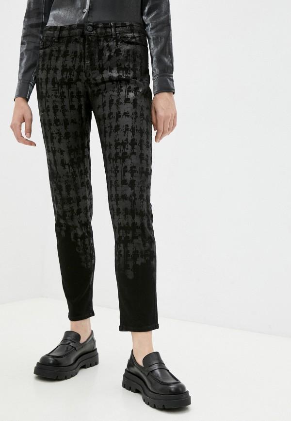 женские джинсы скинни karl lagerfeld, черные